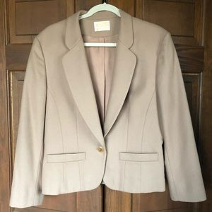 PENDLETON BUTTON FRONT WOOL BLAZER JACKET TAN 14